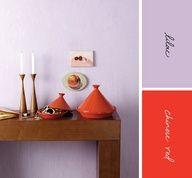lilac + red Color combination. #Unique #Palette.