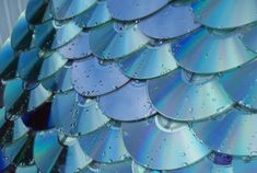 Roof made from discarded CDs