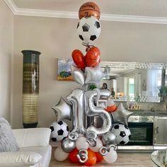 Balloon Display, Balloon Gift, Birthday Balloon Decorations, Happy Birthday Balloons, Balloon Columns, Balloon Arch, Balloon Bouquet, Handmade Decorations, Bouquets