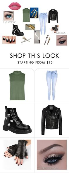 """""""Strange Girl"""" by bookprincess-313 on Polyvore featuring Boohoo, Glamorous, Yves Saint Laurent, Obesity and Speed and Lime Crime"""