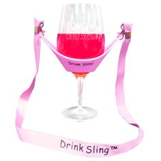 6.99 - Hands Free Pink Wine Glass Holder With Pink Lanyard X 2 Sets  ebay c106bd32e12