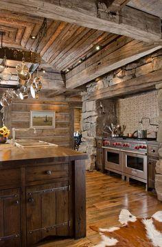 Well Structured #Rustic Kitchen     #rusticfurniture #rusticdeor http://www.santaferanch.com/