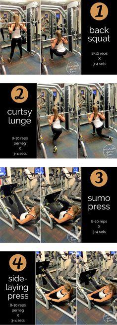 Post Holiday Workout -- Leg Day Workout -- www.nourishmovelove.com