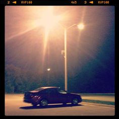 [September Photo a Day Challenge] 8: At night. My poor car that has been parked in the same spot on campus for 14+ hours. #fmsphotoaday