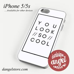 The 1975 You Look So Cool Phone case for iPhone 4/4s/5/5c/5s/6/6 plus