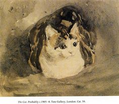 The Cat by Gwen John, c.1905-1908, Tate Britain, London, England, UK Style: Post-Impressionism