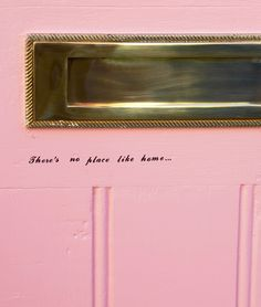 Home: Pink Door Makeover - Fashion For Lunch. Nordic Interior, Cafe Interior, Boat Interior, Interior Ideas, House On A Hill, House Front, Black Interior Doors, Pastel House, Welcome To My House