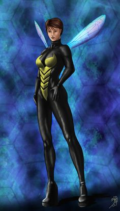 back to my favourite universe: Marvel Introducing the lovely Wasp. Marvel And Dc Characters, Marvel Comic Books, Comic Book Heroes, Comic Books Art, Marvel Girls, Marvel Avengers, Wasp Avengers, Marvel Heroes, Female Avengers