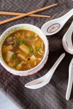 Hot and Sour Soup. A hearty, big-flavored Chinese soup that's surprisingly simple to make. From Blossom to Stem | Because Delicious www.blossomtostem.net #glutenfree