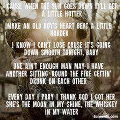 Tyler Farr ~ Whiskey In My Water