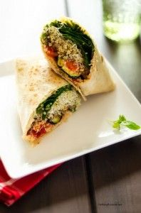 Grilled Vegetable Quinoa Wrap #MeatlessMonday