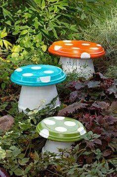 Terra cotta pots and saucers