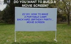 Or build yourselves an outdoor theater.
