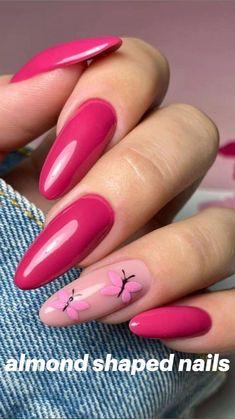 Oval Acrylic Nails, Almond Acrylic Nails, Almond Shape Nails, Oval Nails, Matte Nails, Almond Nails Pink, Summer Nails Almond, Yellow Nails, Green Nails