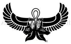 Anubis Bastet Egyptian Tattoo by WildSpiritWolf