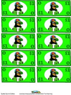 Free Download: These Quentin Dollars can be used as behavior incentives. My students love earning them and spending them in our classroom store. My students also earn them for taking Accelerated Reader tests and doing extra work.  My kiddos get so excited when they earn these.   #free #incentive #money #penguin #TPT #teacherspayteachers #teaching #learning #education