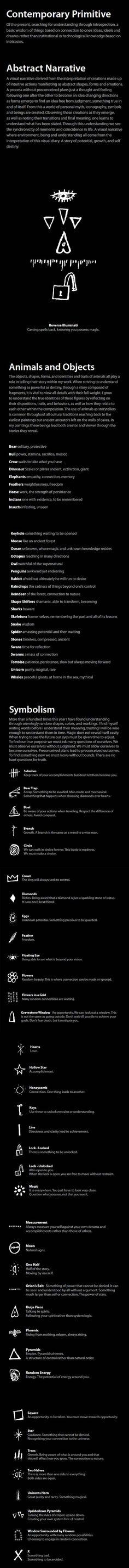 Jesse Reno's symbols meanings (http://jessereno.com/bio.html)