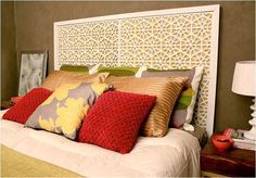 west elm inspired headboard made with rubber mats