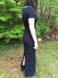 90's Grunge Dress / Goth Maxi sz Small by SoSuckyNY on Etsy, $16.46