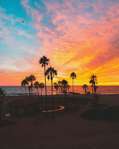 Colourful sunset at Venice Beach, Los Angeles, California. Pretty Sky, Beautiful Sky, Beautiful Places, Beach Photography, Travel Photography, San Diego, Wanderlust, City Of Angels, California Dreamin'