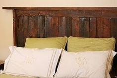 A headboard made out of two pallets...next project? Yes.