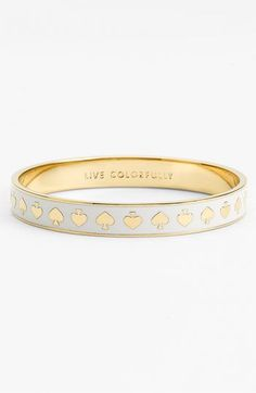 I could wear this for Poker night at the Country club... Kate spade new york 'idiom' thin bangle available at #Nordstrom