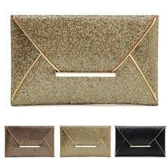 Fashion Women Evening Party Bags Glitter Sequins Clutch Envelope Handbag Wallet | eBay