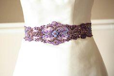 wedding dress belt - porpora