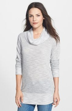 Bobeau Cowl Neck Tunic Top (Regular & Petite) available at #Nordstrom. XL in any of the colors!