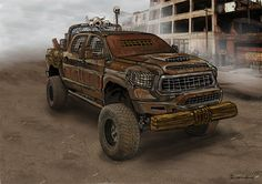 Post apocalypse vehicle Post Apocalypse, Sci Fi Art, Monster Trucks, Vehicles, Car, Automobile, Rolling Stock, Vehicle, Cars