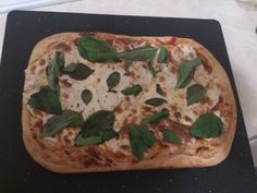 My old standby, #Margherita done Sicilian style. With these thicker crusts, I have been adding oregano and garlic to the dough which has netted amazing results.