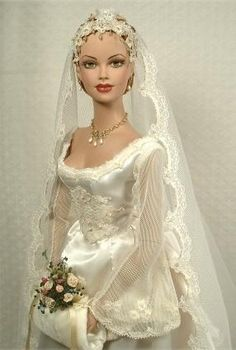 """Bride for all Ages"" by Cheryl Crawford (via In a Barbie World) of Crawford Manor Dolls Barbie Bridal, Barbie Wedding Dress, Wedding Doll, Barbie Dress, Wedding Dresses, Barbie Vintage, Vintage Dolls, Barbie Style, Poupées Barbie Collector"