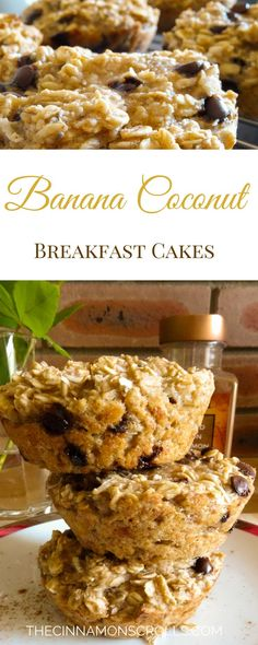 These breakfast cakes are loaded with fibre, protein, and omega-3's from the chia seeds. They're a perfect start to your day, especially if you're making a mad dash for the door... | thecinnamonscrolls.com @cinnamonscribe                                                                                                                                                     More
