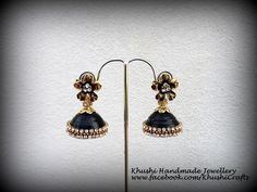 Quilled black party wear Jhumkas!