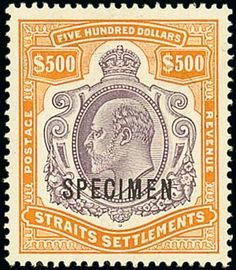 Spink UK / The 'Lionheart' Collection of Great Britain and British Empire - Part XI - / Malaysia / Lot Malaysia Straits Settlements Rare Stamps, Old Stamps, Vintage Stamps, Straits Settlements, Orange And Purple, Orange Brown, Five Hundred, Dollar, British Colonial