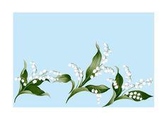 #スズラン, #花, #植物, #高塚由子, #Yoshiko, Taaktsuka, #イラスト, #素材