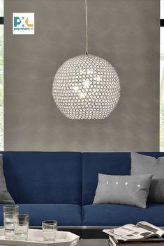Táto dekoratívna [lux.pro] Závesná lampa Crystal HT167315 bola inšpirovaná najnovšími trendmi je ideálnym doplnkom ktorejkoľvek časti domova, či už sa jedná o osvetlenie jedálne, obývačky, pracovne, haly alebo spálne, pätica: 1 x E14 max. 40 W, výška: 158 cm (s káblom), tienidlo: Ø 40 cm. Produkt značky [lux.pro] Ceiling Lights, Lighting, Crystals, Home Decor, Handy Tips, Decoration Home, Room Decor, Lights, Crystal
