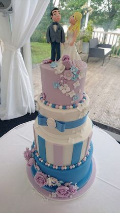Beautiful Wedding Cakes made to order in Swansea and South Wales. Custom made design to your specific needs. Looking elegant and tasting delicious. Please contact me with any questions or to arrange a consultation.
