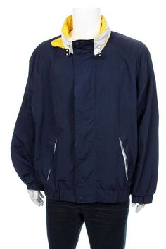 ac585d6a8 Vintage 90 s Tommy Hilfiger Sailing jacket Big Logo Spell Out Hip Hop Rap  Style hideaway hood