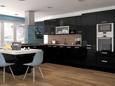 High Gloss Black Kitchens Kitchen Units At Trade Prices Diy