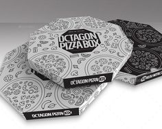 Packaging Mock up Octagon Pizza Box