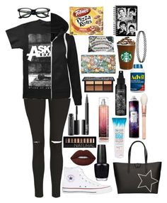 """""""Take back these things I've done"""" by xxghostlygracexx ❤ liked on Polyvore featuring Topshop, Converse, Gum by Gianni Chiarini, OPI, Lime Crime, Forever 21, MAC Cosmetics, NARS Cosmetics, Kat Von D and R+Co"""