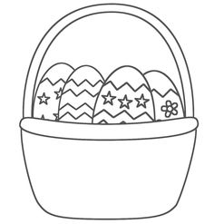 Easter Egg Basket Coloring Pages - Gallery - Mcoloring