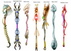 Concepts for Sacred Seasons 08 by Nezart on DeviantArt Anime Weapons, Fantasy Weapons, Art Sketches, Art Drawings, Character Art, Character Design, Sword Design, Zodiac Tattoos, Weapon Concept Art
