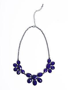 Charming Charlie Purple Bib Necklace