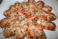 Panelinha de Sabores: Pizza com base de beringela Quando deixo de acende... Pizza Tradicional, Paleo, Vegan, Cauliflower, Cheese, Vegetables, Mojito, Diabetes, Food