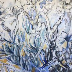 "Renee Leslie. SA Artist. on Instagram: ""Back in the Karoo #succulents #plants #blue"" Succulents, Abstract, Artwork, Artist, Plants, Blue, Painting, Instagram, Summary"