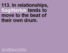 Sagittarius fact from ZodiacChic.