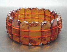 22.3 grams Genuine Natural Baltic Amber Cognac Bracelet No Enhancement