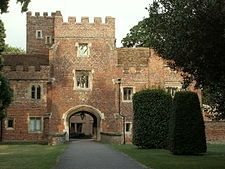 Buckden Towers, 12th century fortified manor house, Cambridgeshire.